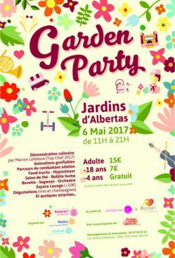 Affiche garden party