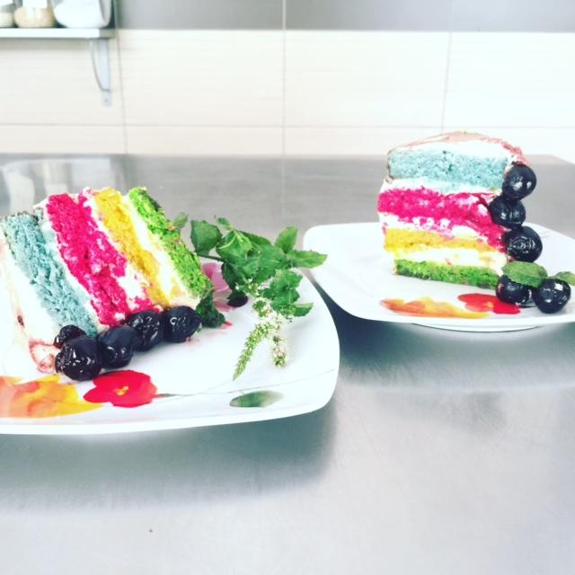 Le Rainbow Cake !