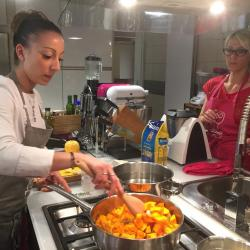 Shooting de l'atelier avec Coline Faulquier, Top Chef 2016