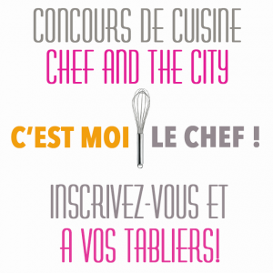 Logo concours cuisine amateur chef and the city