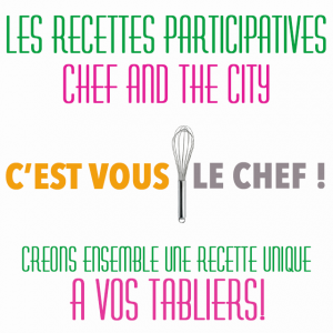 Logo recettes participatives chef and the city recupere