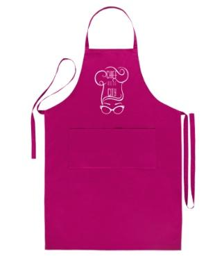 Tablier de cuisine magenta chef and the city 1